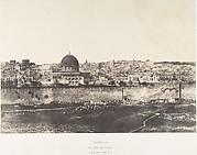 Jérusalem, Enceinte du Temple, Vue générale de la face est, Pl. 2