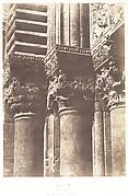 Jérusalem, Saint-Sépulcre, Détails des chapiteaux de la porte principale
