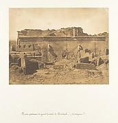 Façade postérieure de grande Temple de Dendérah (Tentyris)