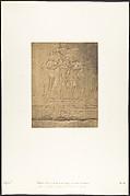 Sculptures extérieures du Santuaire de granit du palais de Karnac (Sacre de Philippe-Aridée par les Dieux Thot et Hor-hat)