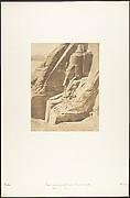 Profil du Colosse oriental du Spéos de Phré, à Abousembil (Portrait de Rhamsès-le-grand)