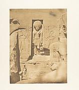 Décoration de l'entrée du grand Spéos d'Abousembil (Le Dieu Phré recevant les offrandes de Rhamsès-le-grand)