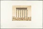 Colonnade du Temple du Soleil, à Baâlbek (Héliopolis)