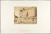 Vue du Temple de Jupiter, à Baâlbek (Héliopolis)
