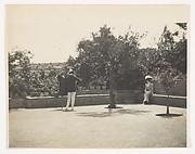 [de Meyer Photographing a Woman in a Garden]