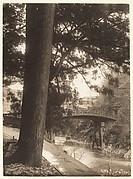 [Garden, Tree, Bridge Over Stream, Nikko]