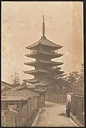 [Pagoda, Men in Street]