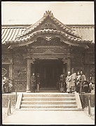 [Entrance to Shrine with Visitors in Line]