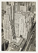 """[""""Step-Back"""" Buildings and Street, From Above, New York City]"""