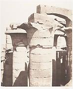 Karnak (Thèbes), Palais - Salle Hypostyle - Colonnade Centrale - Chapiteaux