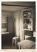 [A Corner of Mondrian&#39;s Studio with Bed, Stool, Curtain, and Mirrors]