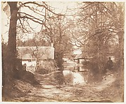 [View of a House in the Woods, with a Waterlogged Road]