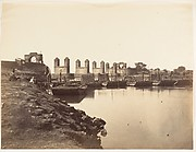 [Suspension Bridge Over the Hindun River Destroyed by the Rebels in 1857]