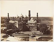 [Runjeet Singh's Tomb and the Great Mosque at Lahore]