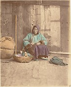 [Chinese Woman Sitting with Basket]