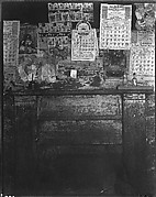 [Fireplace with Pictures Above Mantle in Frank Tengle's Home, Hale County, Alabama]