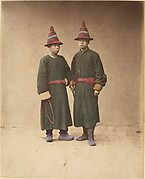 [Two Chinese Men in Matching Traditional Dress]