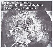 """[""""The proud Italian sauce""""]"""