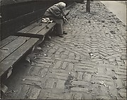 [Elderly Woman Seated on Bench, Central Park, New York City]