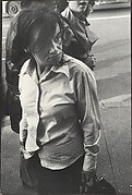 [Woman on Street Carrying Purse, New York]