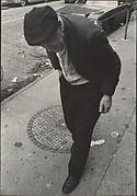 [Street Scene: Elderly Man in Dark Plaid Cap, New York City]