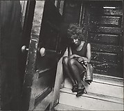 [Street Scene: Exhausted Woman Seated on Stoop, New York City]