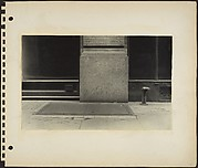[Building Front, Cellar Hatch, and Siamese Standpipe on Sidewalk, New York City]
