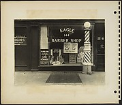 "[""Eagle"" Barber Shop Window, New York City]"