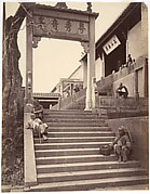 Beggars at the Gate of a Temple, Canton
