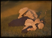 [Mary Warner and Lotte in the Meadow]
