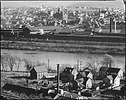 [View of Houses and Factory Buildings on Lehigh River, From Elevated Position, Easton, Pennsylvania]
