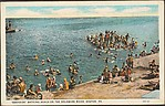 """Eddyside"" Bathing Beach on the Delaware River, Easton, PA."