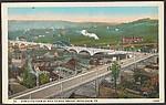 Bird's Eye View of Hill to Hill Bridge, Bethlehem, PA.