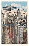 """Future New York, """"The City of Skyscrapers."""""""