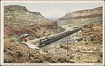 Santa Fe Train in Crozier Canyon, Arizona.