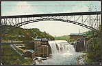 Lower Falls of Genesee River and Driving Park Ave. Bridge, Rochester, N.Y.
