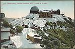 Lick Observatory, Mount Hamilton, Cal. Scene in Winter.