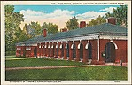 West Range, Showing Location of Edgar Allan Poe Room.  University of Virginia, Charlottesville, Va.