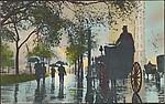 Rainy Day at Madison Square, New York City.