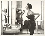Dorian Leigh, Evening Dress by Piguet, Helena Rubinstein Apartment, Ile Saint-Louis, Paris, August 1949