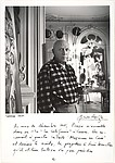 "[Picasso Next to ""Massacre in Korea"" (1951) in His Studio, La Californie, Cannes]"