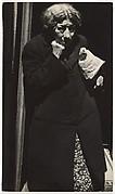 [Woman in Dark Overcoat on Street, New York City]