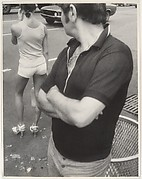 [Street Scene: Man Glancing at Woman in Tee Shirt and Shorts, New York City]