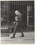 [Street Scene: Elderly Man Walking with Cane, New York City]