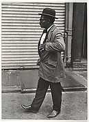 [Street Scene: Man in Bowler Hat and Overcoat, New York City]