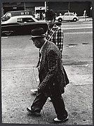 [Street Scene: Two Men Wearing Hats and Plaid Jackets, New York City]