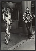 [Street Scene: Two Young Men on Street, One Wearing Stars and Stripes Outfit, New York City]