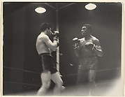 [Two Boxers Sparring in a Ring, New York]