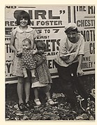 [Children Posing with Toys in Front of Movie Posters, New York]