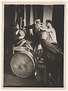 [Bauhaus Band: Xanti Schawinsky on Trumpet with Three Musicians on Piano, Banjo and Drums]
